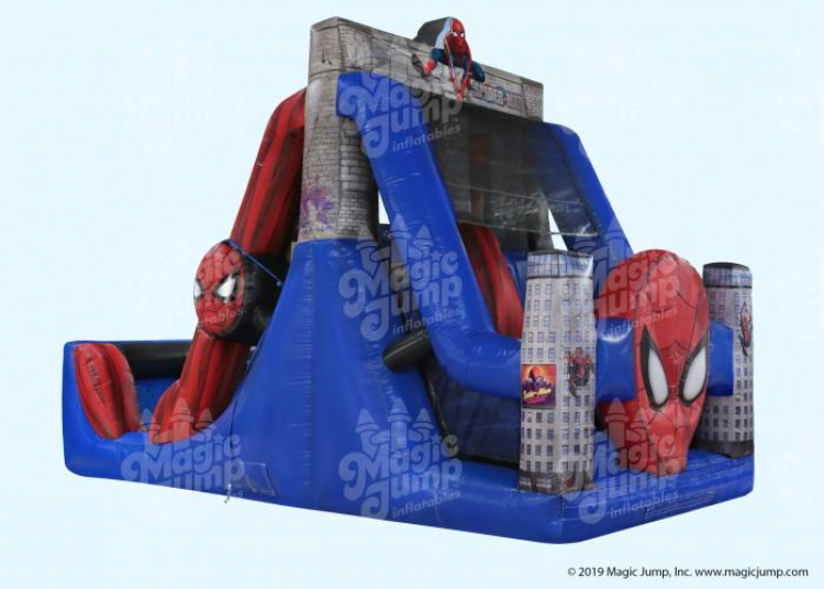 17ft Spider Man Dual Water Slide