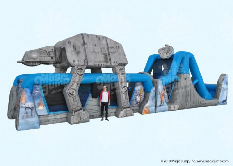 50ft Star Wars WATER Obstacle Course