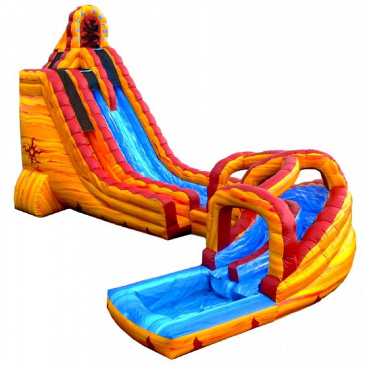 27ft Lava Twist Water Slide