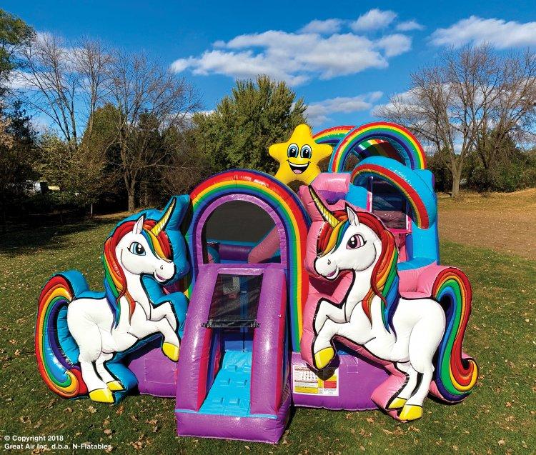 Unicorn KidZone w/ Water Slide