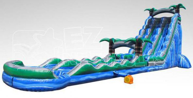27ft Blue Paradise Water Slide