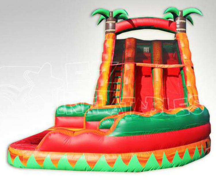 18ft Tropical Fiesta Breeze Curvy Water Slide