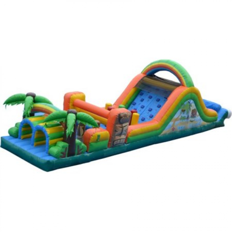 48ft Tiki Island Water Obstacle Course