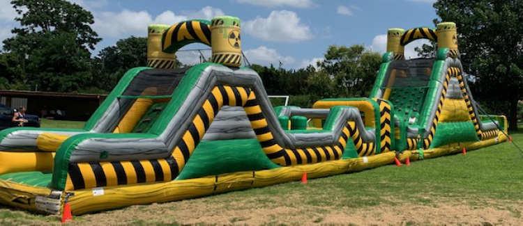 86ft Toxic WATER Obstacle Course