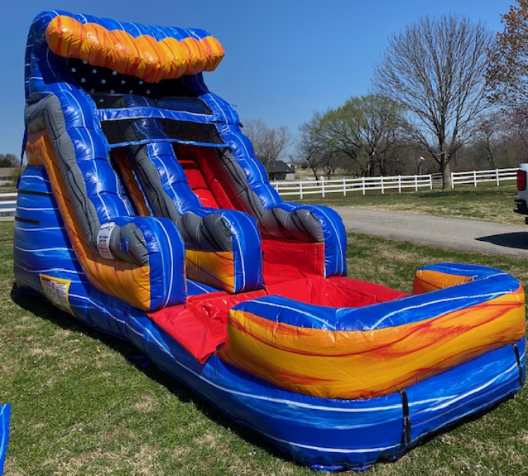 13ft Fireblast Tsunami Water Slide